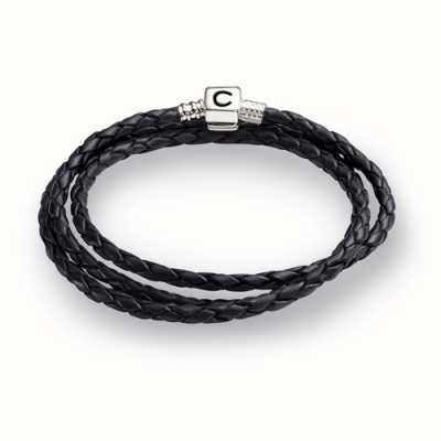 Chamilia Ebony Braided Leather Wrap Bracelet (56.4 cm/22.2 in) 1 1212-0004