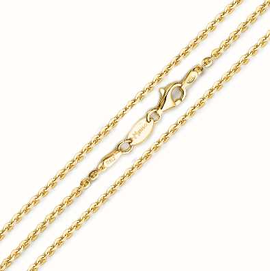 MY iMenso 925/Gold-Plated Necklace Jasseron Flat 80cm E-Coat 27-0022-80