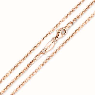 MY iMenso 925/Rosegold-Plated Necklace Jasseron Flat 50cm E- 27-0023-50
