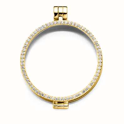 MY iMenso Medallion With Cz-Stones 33mm (925/Gold-Plated) 33-0071