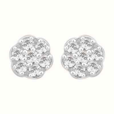 Perfection Swarovski Seven Stone Round Cluster Stud Earrings (0.25ct) E2045-SK