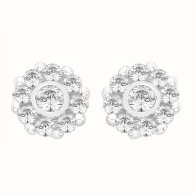 Perfection Swarovski Nine Stone Cluster Stud Earrings (0.50ct) E2315-SK