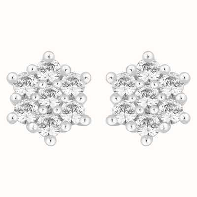Perfection Swarovski Seven Stone Flower Cluster Stud Earrings (2.00ct) E2350-SK