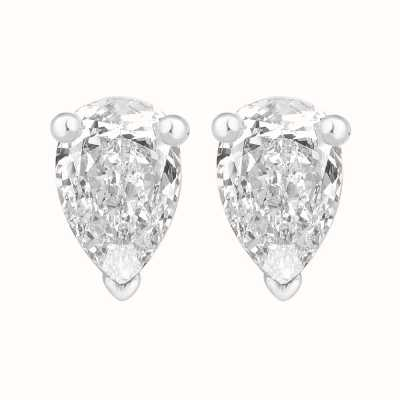 Perfection Crystals Single Stone Claw Set Pear Stud Earrings (1.50ct) E3930-SK