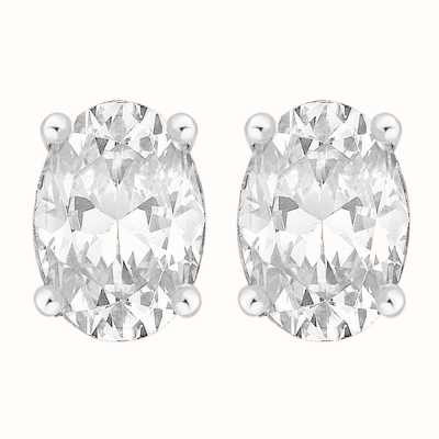 Perfection Crystals Single Stone Claw Set Oval Stud Earrings (1.00ct) E3940-SK