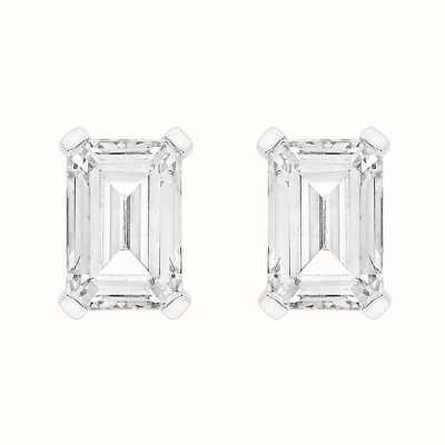 Perfection Swarovski Single Stone Claw Set Emerald Stud Earrings (1.00ct) E4046-SK