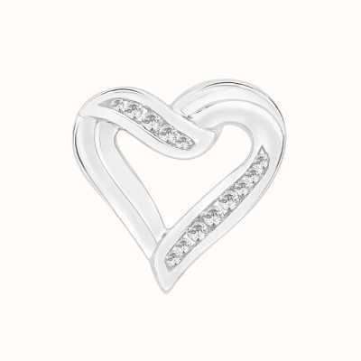 Perfection Crystals Heart Pendant With Part Channel Setting (0.25ct) P3038-SK