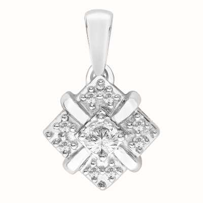 Perfection Swarovski Fancy Cluster Pendant (0.25ct) P3254-SK