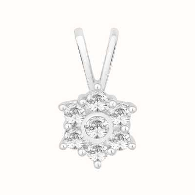 Perfection Swarovski Seven Stone Flower Cluster Pendant (0.40ct) P3555-SK