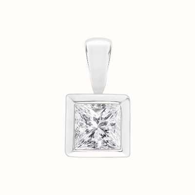 Perfection Swarovski Single Stone Rubover Princess Cut Pendant (0.45ct) P5513-SK