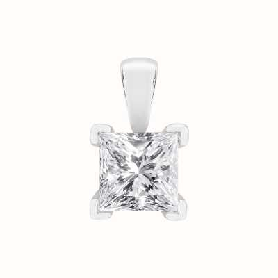 Perfection Swarovski Single Stone Four Claw Princess Cut Pendant (0.45ct) P5529-SK