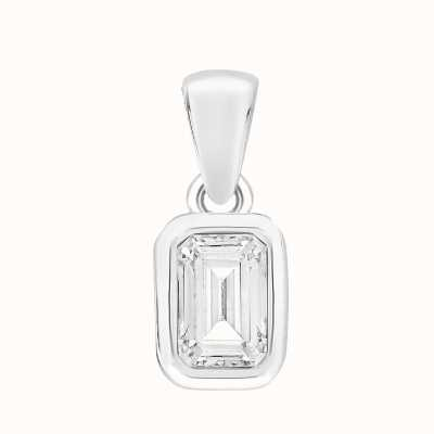 Perfection Crystals Single Stone Rubover Emerald Pendant (0.50ct) P5678-SK