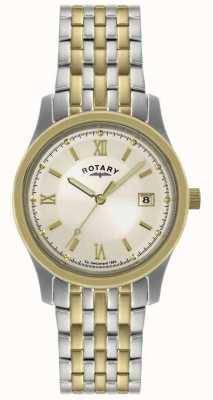 Rotary Mens Two-Tone Steel Bracelet Watch GBI0793/09