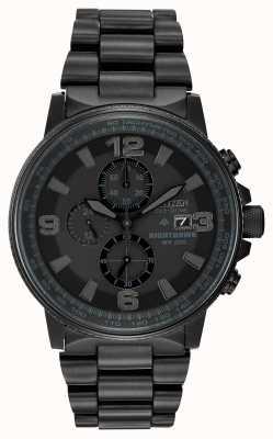 Citizen Men's Eco-Drive Nighthawk Monochrome Watch CA0295-58E