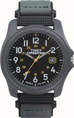 Timex Mens Expedition Dark Grey Face Nylon Strap  Watch T42571