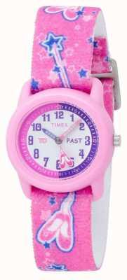 Timex Kids Pink Ballerina Analogue Strap Watch T7B151
