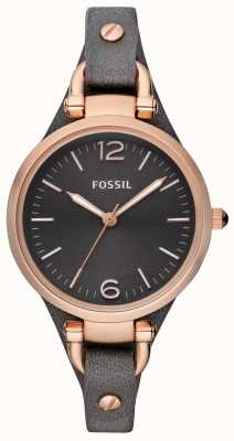Fossil Womens Leather Strap Analogue Watch ES3077