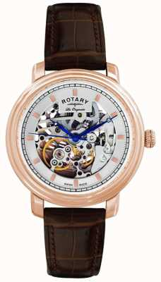 Rotary Gent's Les Originales Brown Leather Strap Watch GS90505/06