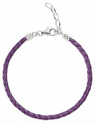 Chamilia One Size Purple Metallic Braided Leather Bracelet 1030-0113
