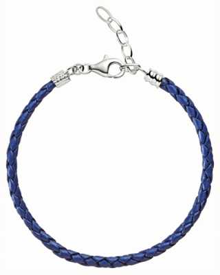 Chamilia One Size Blue Metallic Braided Leather Bracelet 1030-0111