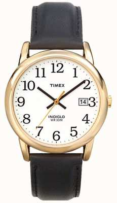 Timex Mens White Black Easy Reader Watch T2H291