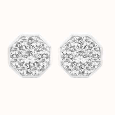 Perfection Swarovski Art Deco Cluster Stud Earrings (0.50ct) E2132-SK