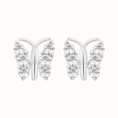 Perfection Crystals Butterfly Stud Earrings (0.25ct) E2385-SK