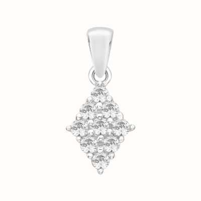 Perfection Swarovski Diamond Shaped Cluster Pendant (0.50ct) P3293-SK