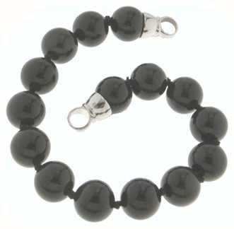 MY iMenso Onyx Bracelet + Endcap (925/Rhod-Plated) 10mm/18cm 27-0511-18