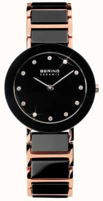 Bering Modern Dual Tone Ceramic Crystal Watch 11429-746