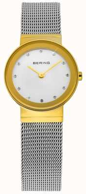 Bering Time Ladies Gold and Silver Classic Mesh 10122-001