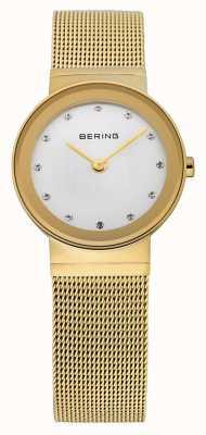 Bering Time Ladies Gold Mesh Watch 10126-334