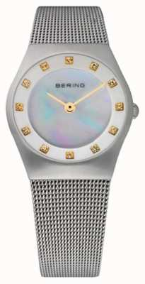 Bering Womens Mother of Pearl Dial | Stainless Steel Mesh Strap | 11927-004