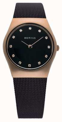 Bering Time Ladies Milanese Brown Mesh Watch 11927-262