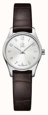 Calvin Klein Ladies Classic Silver Brown Watch K4D231G6