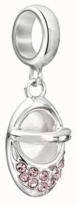 Chamilia Pink Swarovski Baby Slipper Charm 2025-1072