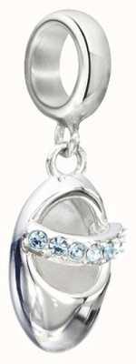 Chamilia Blue Swarovski Baby Slipper Charm 2025-1073