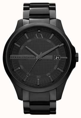 Armani Exchange Mens Smart Black PVD Plated Stainless Steel AX2104
