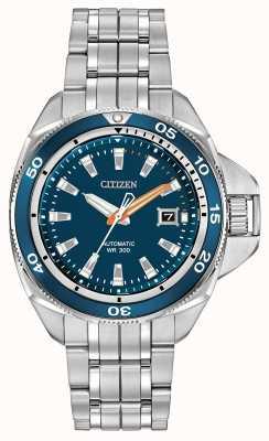 Citizen Mens Signature Automatic Grand Touring Blue Dial Watch NB1031-53L