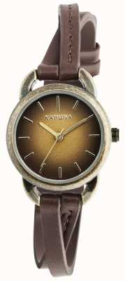 Kahuna Ladies Brown Leather Crossover KLS-0294L