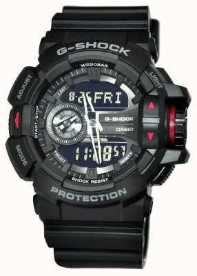 Casio Mens G-Shock Black Chronograph Watch GA-400-1BER