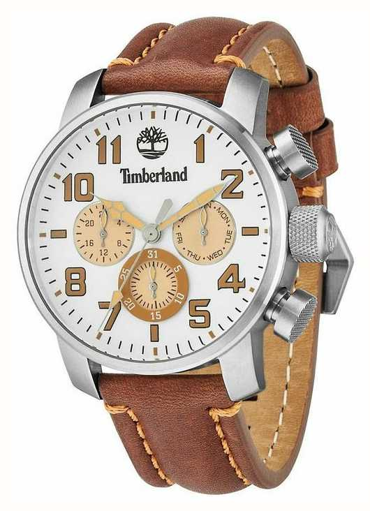 Timberland Mens Mascoma Brown Leather Strap 14439JS 07 - First Class ... d8f247007c3