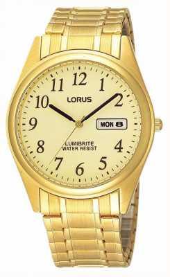 Lorus Gold Plated Expanding Bracelet RXN98AX9