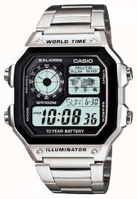 Casio Digital Multifunction World Timer Quartz AE-1200WHD-1AVEF