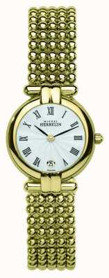 Michel Herbelin Womens Perle, Gold Watch 16873/BP08