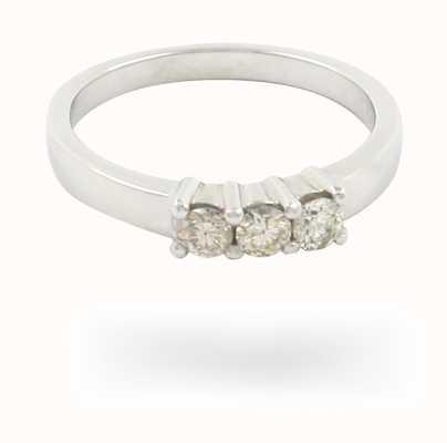 9k White Gold 3 Stone Diamond Ring (0.30ct approx) JM1486