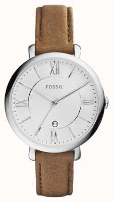 Fossil Womens Jacqueline Brown Leather Strap ES3708
