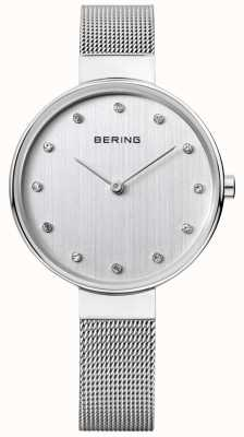 Bering Womens Stainless Steel Mesh Silver Dial 12034-000