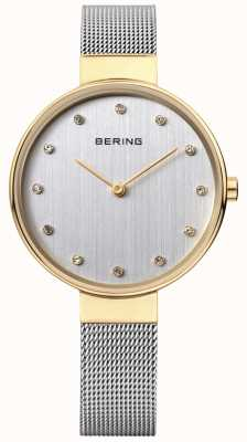 Bering Womens Stainless Steel Mesh Silver Dial 12034-010