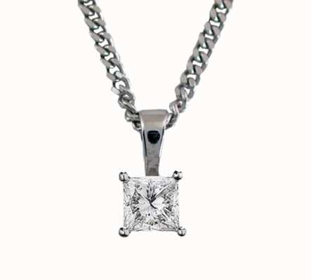 18ct White Gold 'Princess Cut' 0.33ct H SI PRINCESS-P033